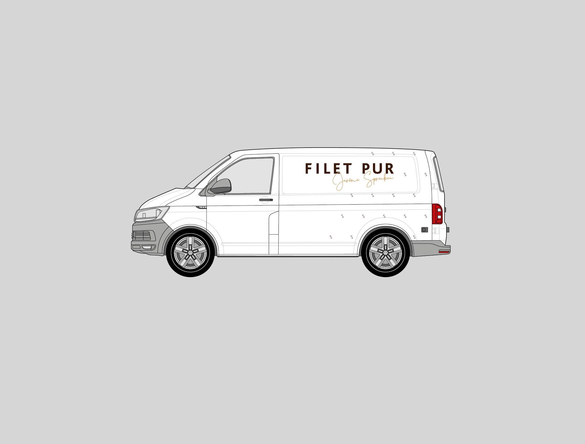 Filet Pur Busbelettering