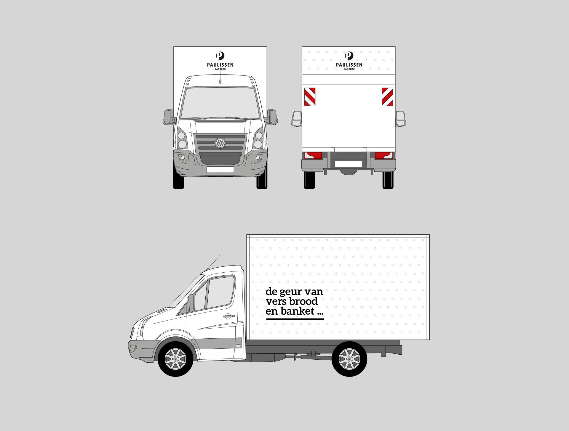 Vrachtwagen belettering - Bakkerij Paulissen - visual