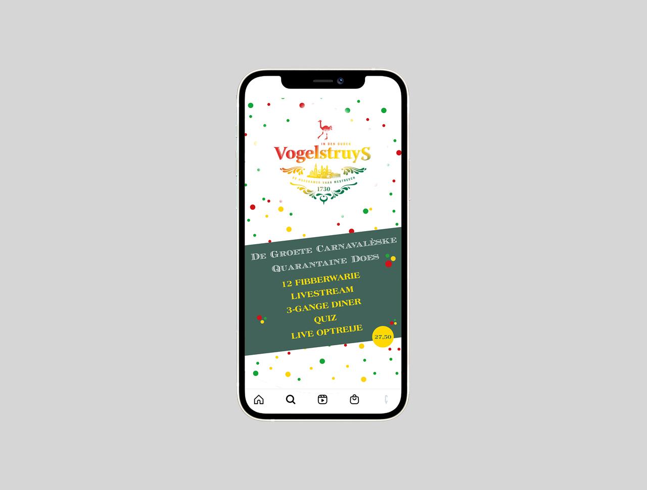 Vogelstruys - instragram post design