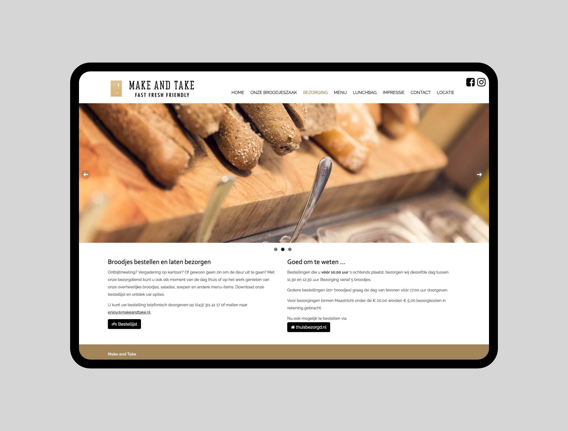 make and take - website