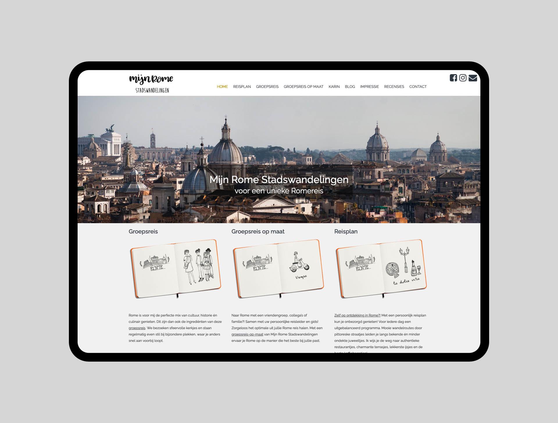 mijn rome stadswandelingen - website