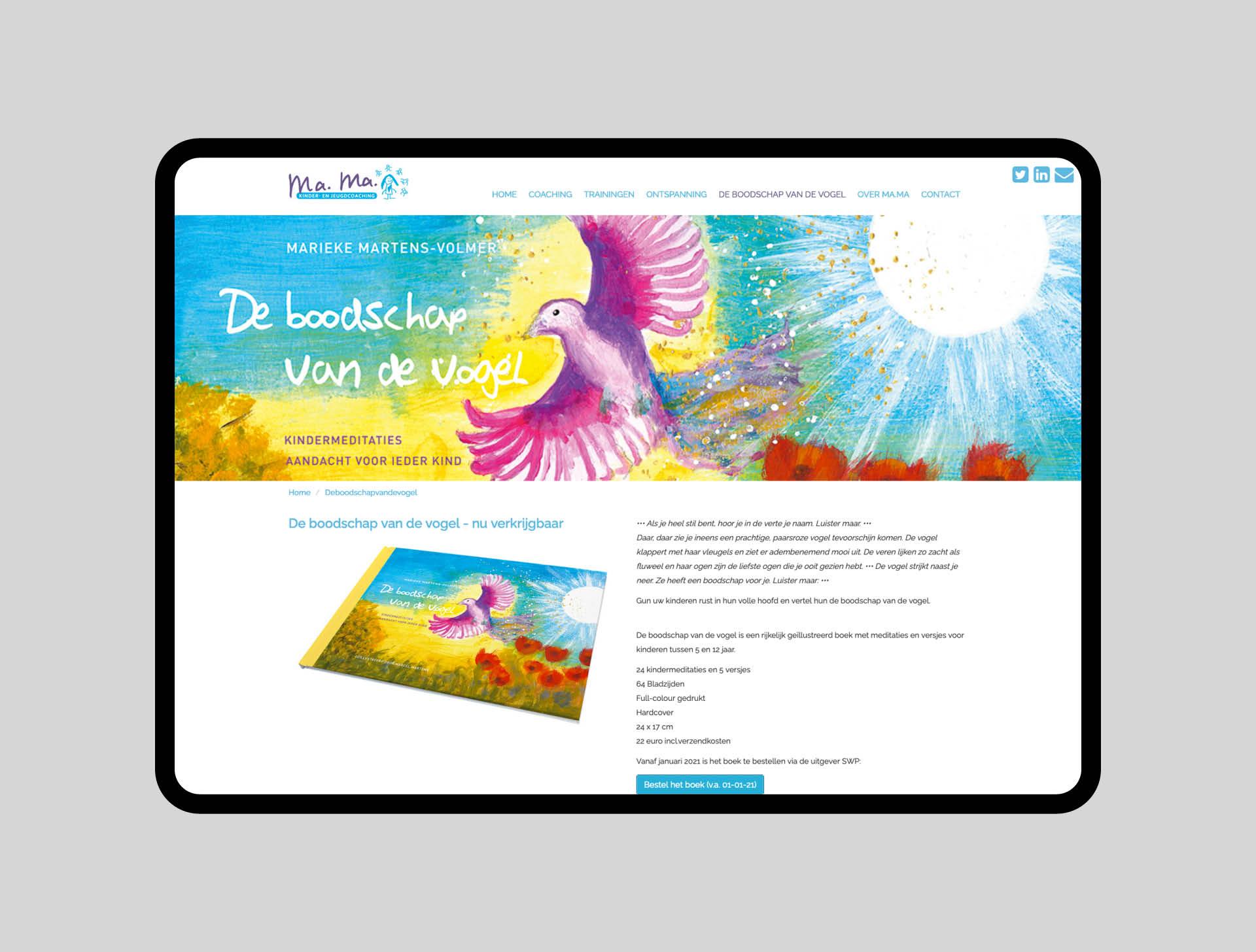 website - kinderenjeugdcoaching Marieke Martens - Ca Va Bien