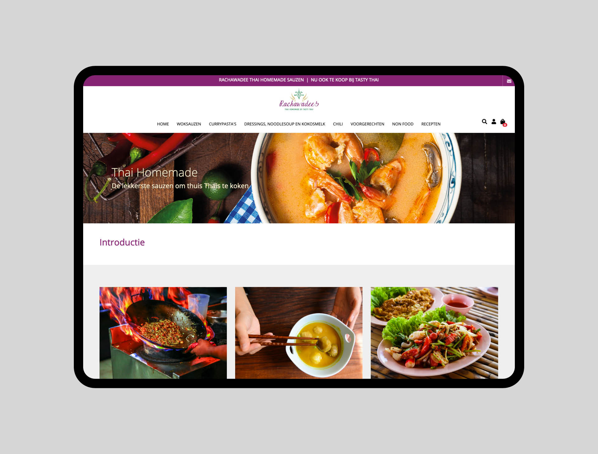Rachawadee thai homemade webshop | Ca Va Bien Website Sparkybag